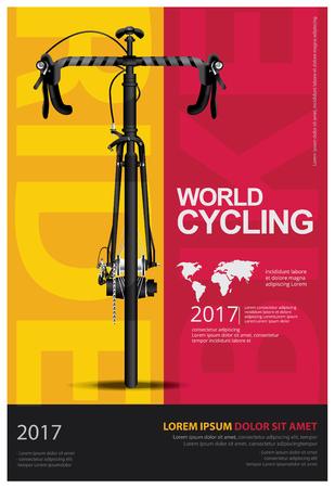 Cycling Poster Vector Illustration Vettoriali