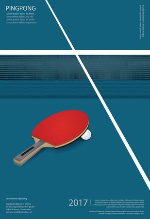 Table tennis Poster Template Vector Illustration Vettoriali