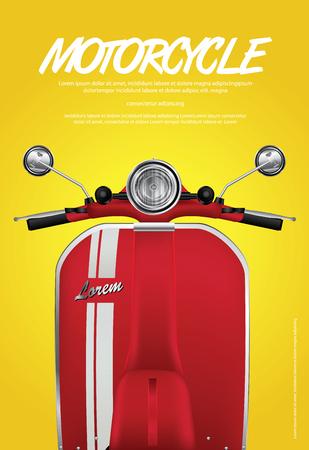Moto Vintage isolato Illustrazione Vettoriale Archivio Fotografico - 90463714