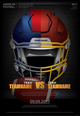 アメリカン フットボール ベクトル イラストのポスター  イラスト・ベクター素材