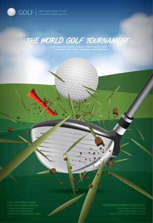 Poster Golf Championship Vector Illustration Illusztráció
