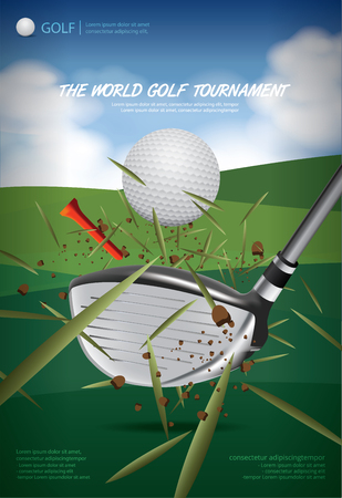 Poster Golf Championship Vector Illustration Illustration