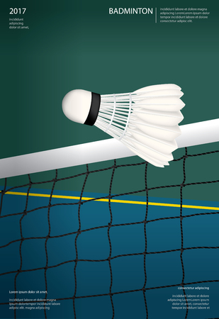 Badminton Championship Poster Vector illustration Ilustrace