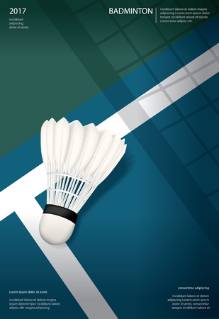 Badminton Championship Poster Vector illustration Çizim