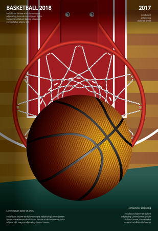 Ilustracja reklama plakat koszykówki
