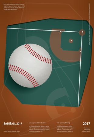 Baseball Championship Sport Poster Design