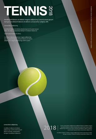 Tennis Championship Poster Vector illustration 向量圖像