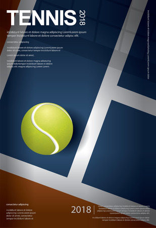 Tennis Championship Poster Vector illustration Stock Illustratie