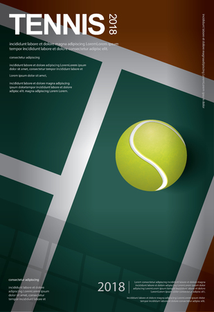 Tennis Championship Poster Vector illustration Çizim