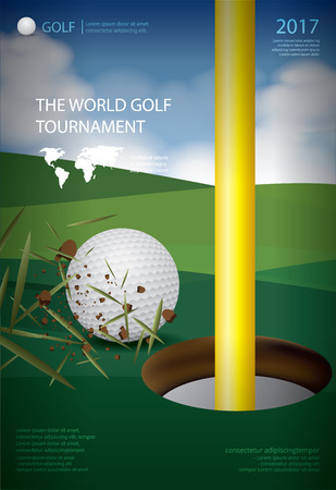 Poster Golf Championship Vector Illustration Ilustração