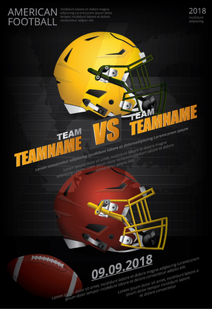 American Football Poster Vektor-Illustration Vektorgrafik