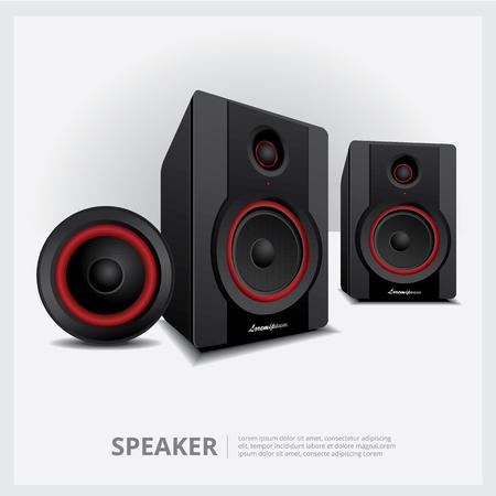 Sprecher isolierte Vektorillustration