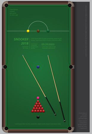 Snooker Championship Poster Design Template Vector Illustration