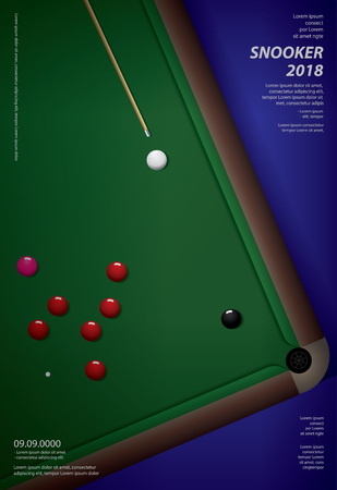 Snooker Championship Poster Design Template Vector Illustration