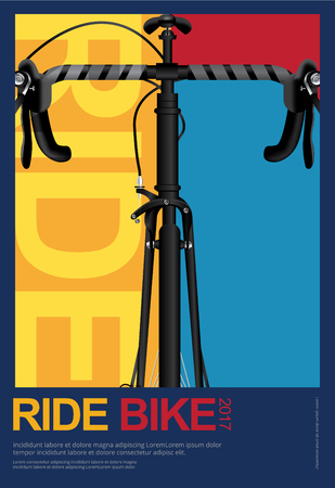 Cycling Poster Design Template Vector Illustration Illusztráció