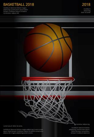 Basketball Poster Advertising Vector Illustration Ilustracja
