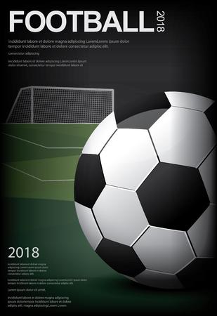 Soccer Football Poster Vector Illustration