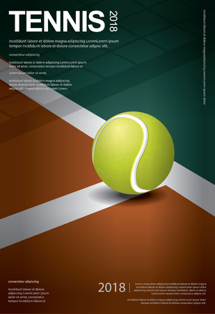 Tennis Championship Poster Vector illustration Illustration
