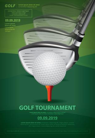 Ilustración de Vector de campeonato de golf de cartel