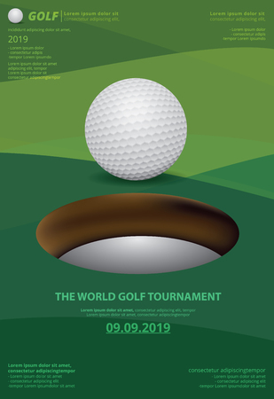 Poster Golf Championship Vector Illustration Ilustracja