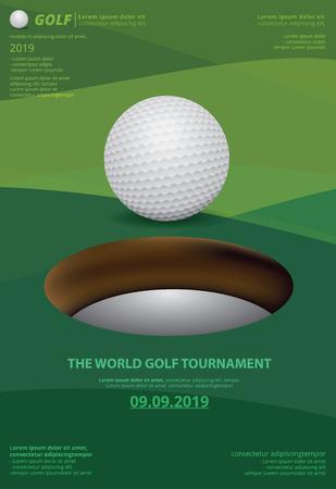 Poster Golf Championship Vector Illustration Illustration