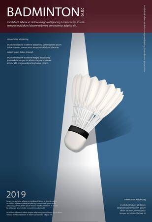 Badminton Championship Poster Vector illustration Stock Illustratie
