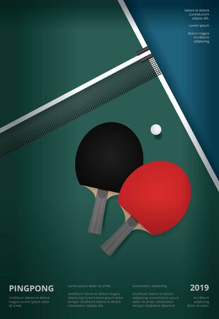 table tennis oster Template Vector Illustration