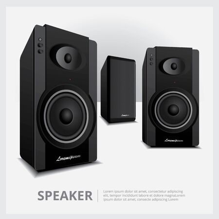 Loud Speakers isolated vector illustration
