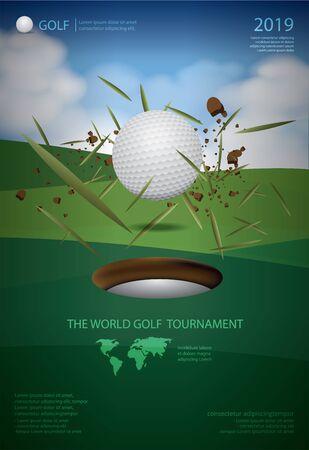 Poster Golf Championship Vector Illustration Stock Illustratie