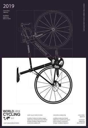 Cycling Poster Vector Illustration Stock Illustratie