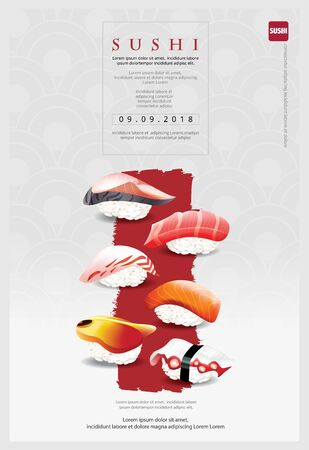 Poster of Sushi Restaurant Vector illustration