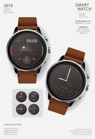Smart Watch Poster Design Template Vector Illustration