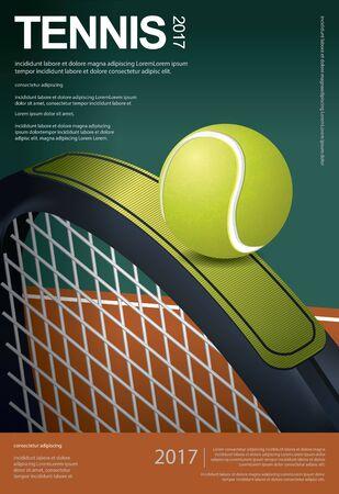 Tennis Championship Poster Vector illustration Vectores