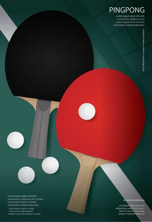 Table tennis Poster Template Vector Illustration Illusztráció