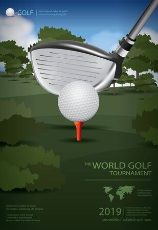 Poster Golf Champion Vector Illustration