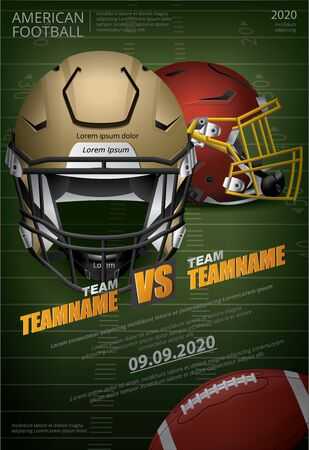 American football Poster Vector Illustration