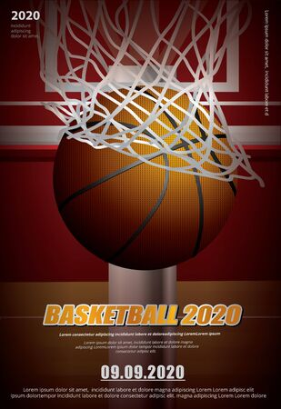 Basketball Poster Advertising Vector Illustration Illusztráció