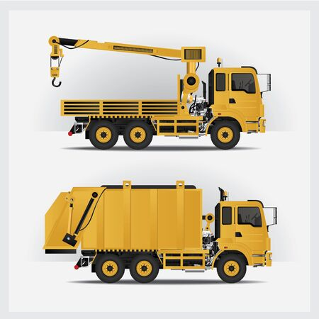 Construction Vehicles Vector Illustration Illusztráció