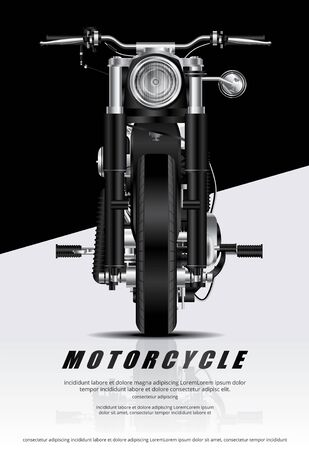 Poster Chopper Motorcycle isolated Vector Illustration Illusztráció