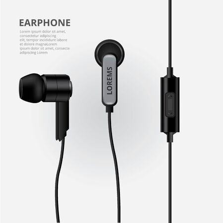 Earphone isolated Vector Illustration Illusztráció