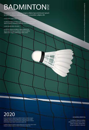 Badminton Championship Poster Vector illustration Illustration