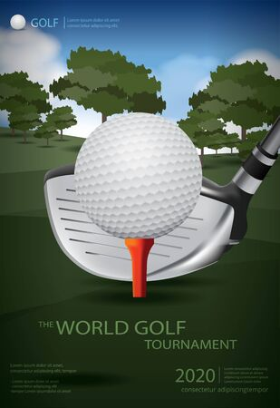 Poster Golf Champion Template Design Vector Illustration