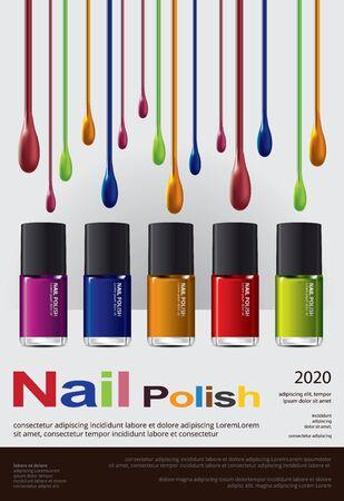 Nail polish Poster Design Template Vector Illustration Banco de Imagens - 148239904