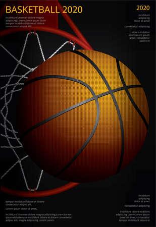 Basketball Poster Advertising Vector Illustration Ilustração