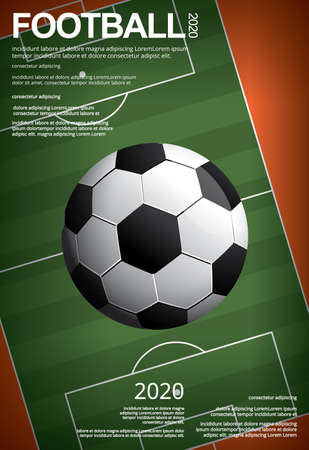 Soccer Football Poster Vestor Illustration Banco de Imagens - 151114883