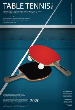 Table Tennis Poster Template Vector Illustration Banco de Imagens - 151114913