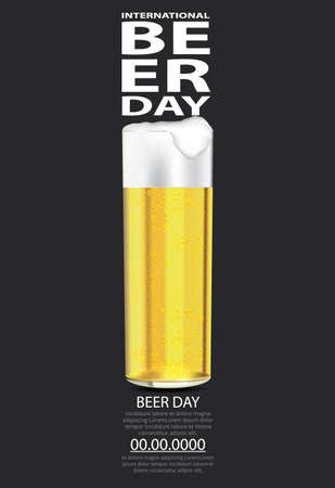 Poster International Beer day Template Design Vector Illustration Imagens - 151072833