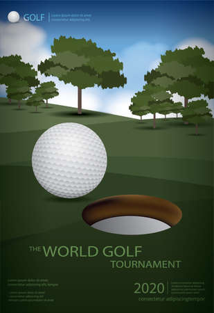 Poster Golf Champion Template Design Vector Illustration Imagens - 151114914