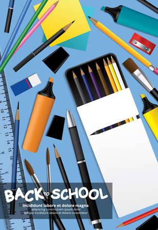 Poster Back to School Design Template Vector Illustration
