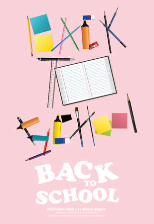 Poster Back to School Design Template Vector Illustration Banco de Imagens - 151073258